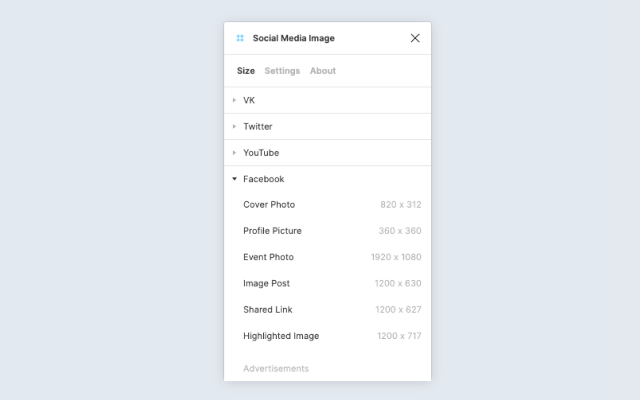 Figma plugin favorite size your image for social