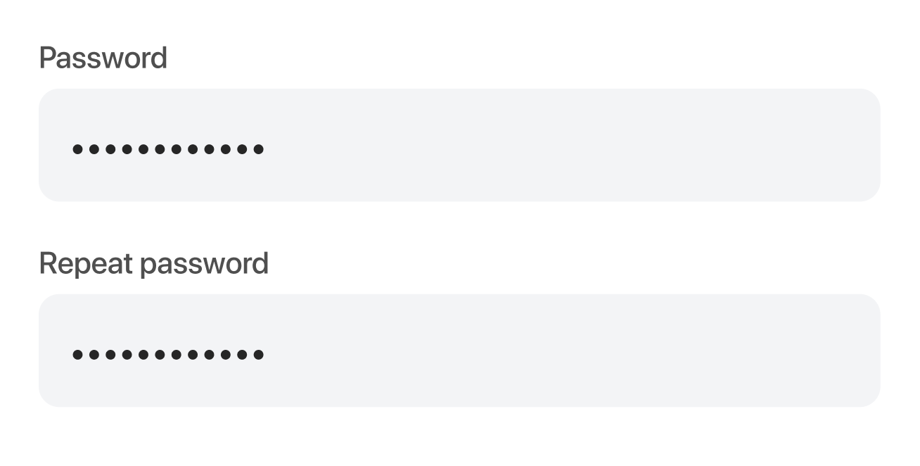 UX of the password input field