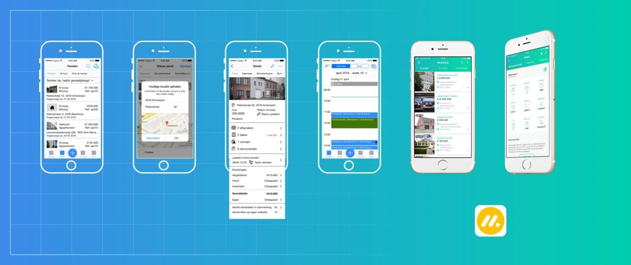 Max Immo wireframe mobile application