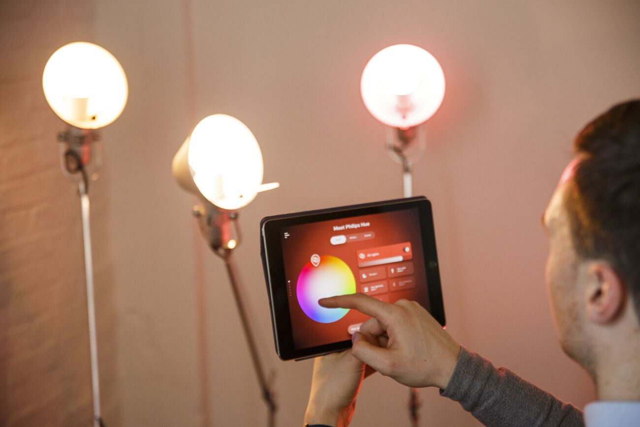 Philips Hue signify in-store lighting app