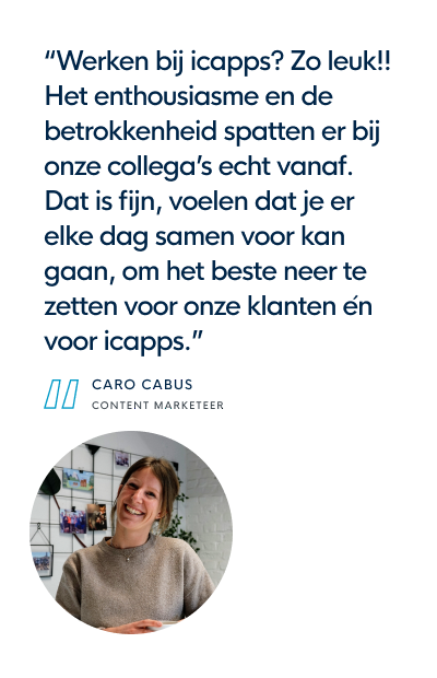 icapps job quote caro content marketer